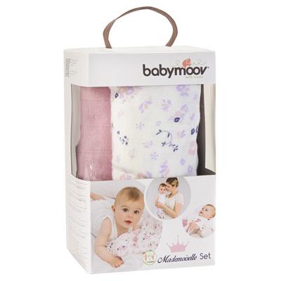 Lot de 3 langes bébé mademoiselle Babymoov