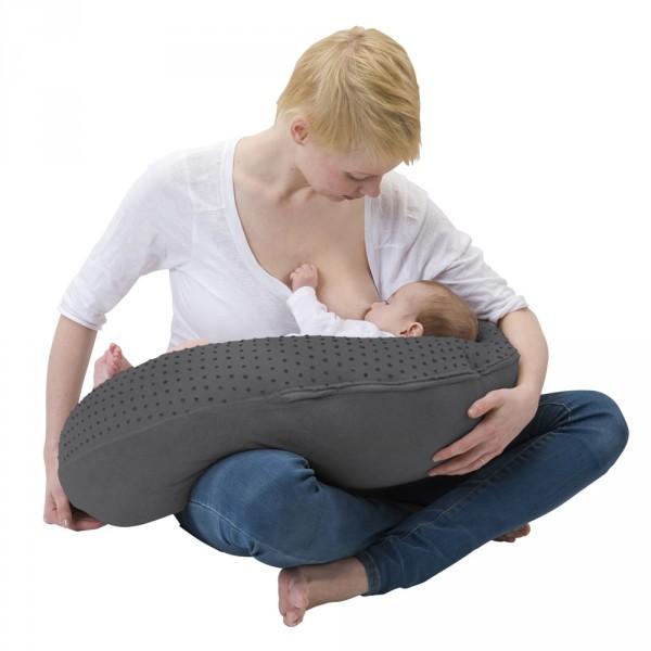 Coussin d'allaitement plumetis zinc Babymoov