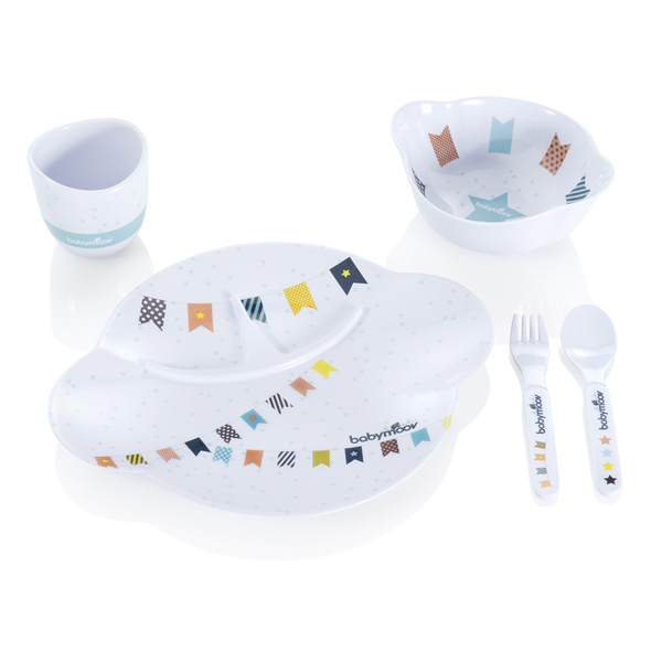Coffret repas bébé party lunch set boy Babymoov