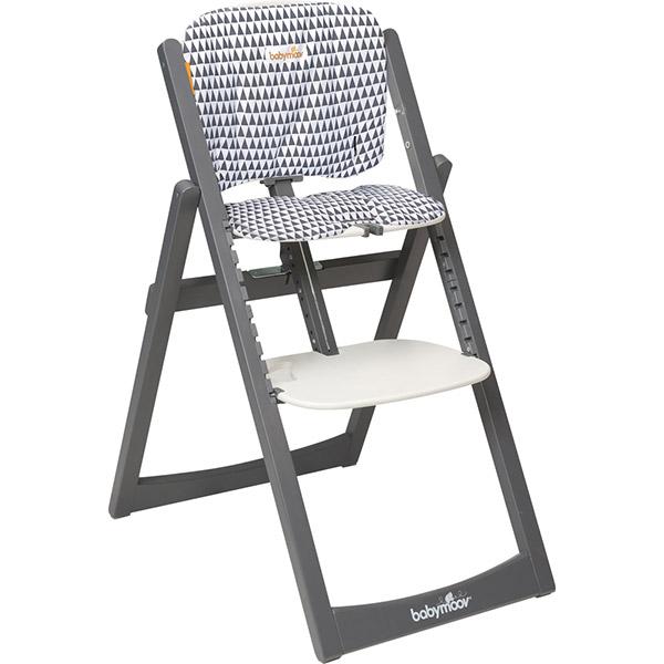 Coussin déco pour chaise haute light wood zinc Babymoov