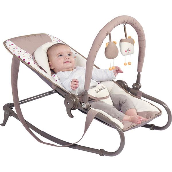 Transat simple bébé bubble ivoire/taupe Babymoov