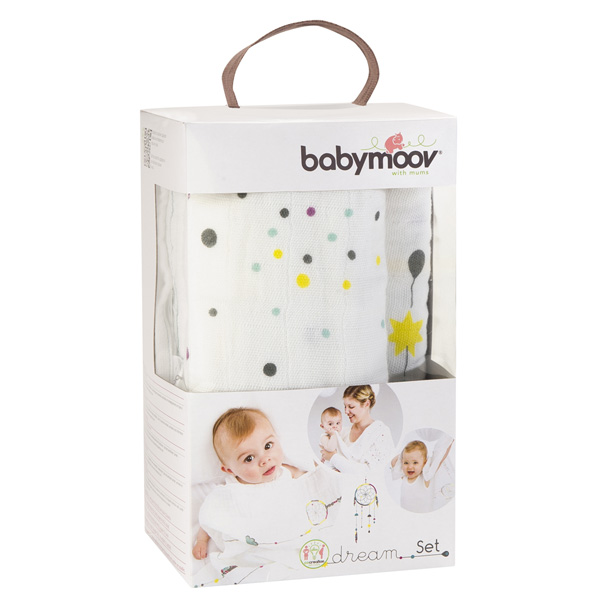 Lot de 3 langes bébé dream Babymoov