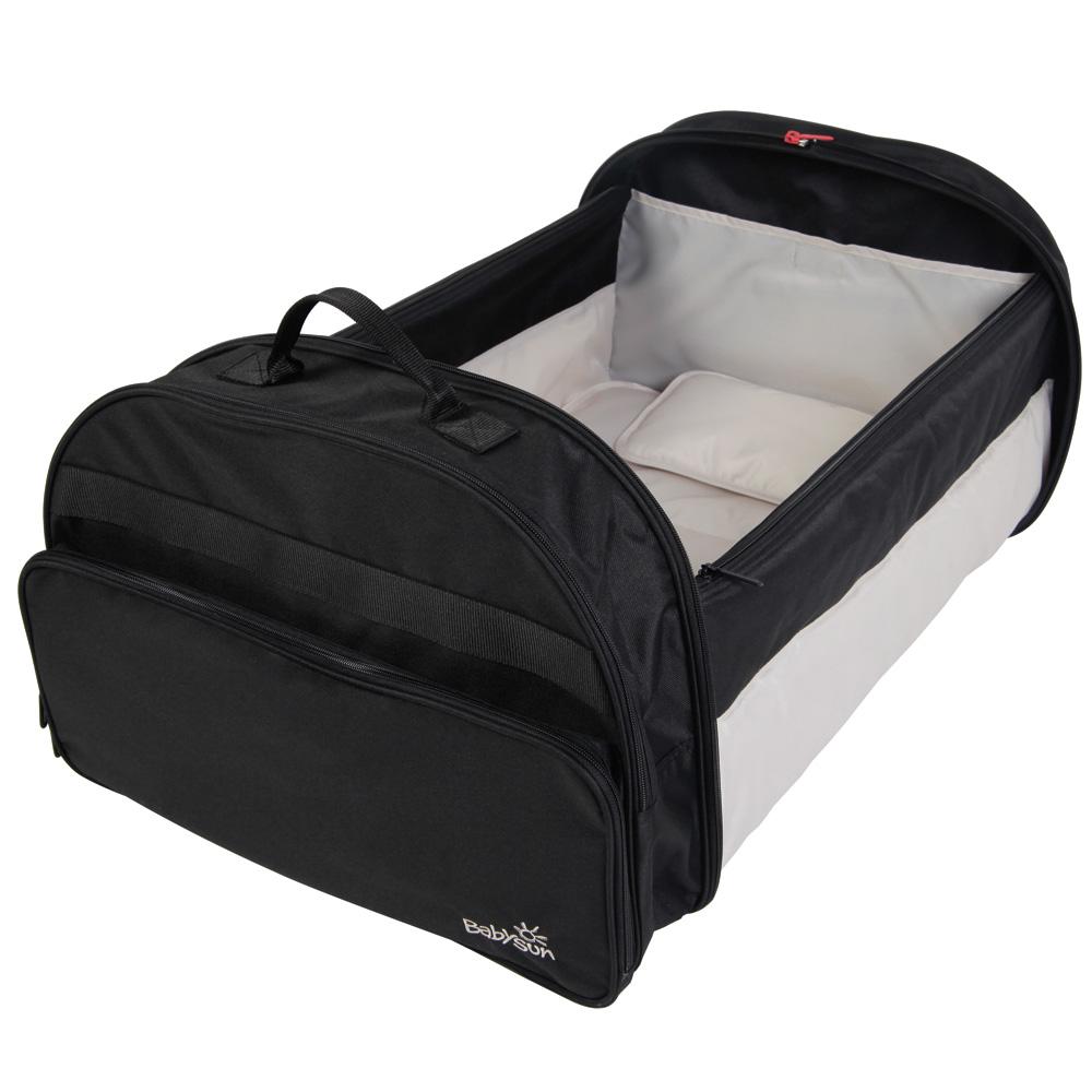 couffin b b nomade noir de babysun chez naturab b. Black Bedroom Furniture Sets. Home Design Ideas