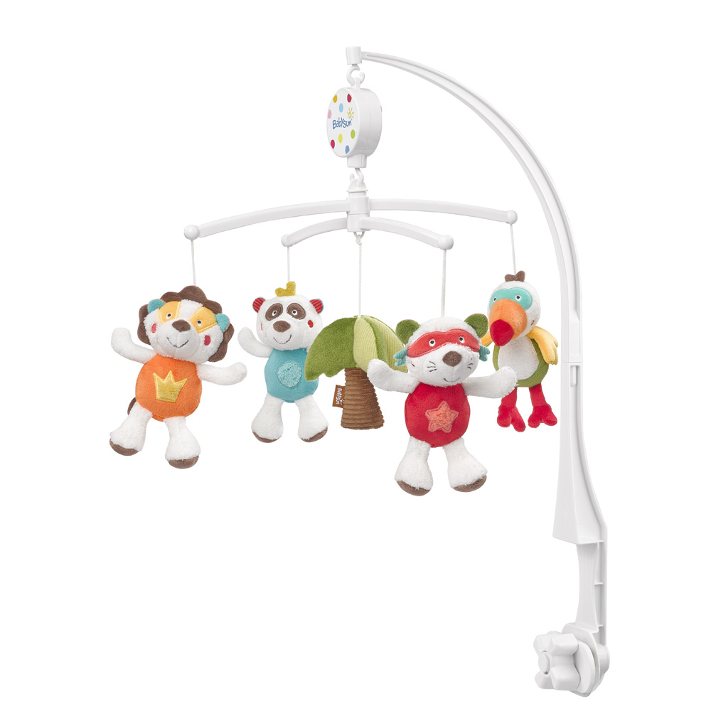 Mobile b b musical jungle heros de babysun - Mobile musical bebe fille ...