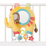 Jouet de lit bébé musical et lumineux éléphant pas cher