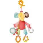 Jouet de voyage bébé éléphant avec pince clip pas cher