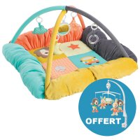 Tapis d'éveil bébé cocon + mobile musical funky friends offert