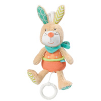 Peluche bébé mini musical lapin funky friends