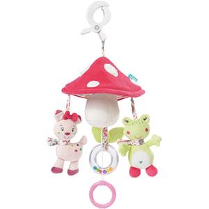 Jouet de voyage bébé mini mobile musical champignon