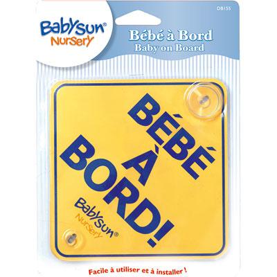 Signalétique bébé a bord babysun nursery Babysun