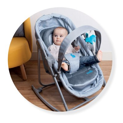 Transat bébé berceau 2 en 1 lapin Babysun