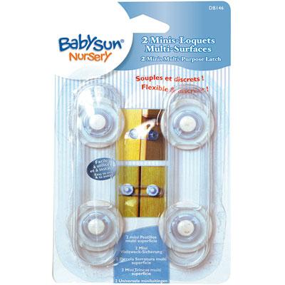 Lot de 2 mini loquets souples multi-surfaces 12 cm Babysun