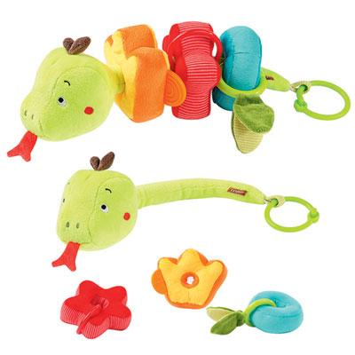 Jouet d'éveil bébé serpent d'activités à enfiler jungle heroes Babysun