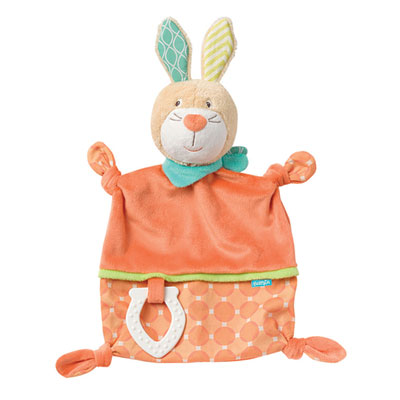 Doudou mouchoir lapin funky friends Babysun