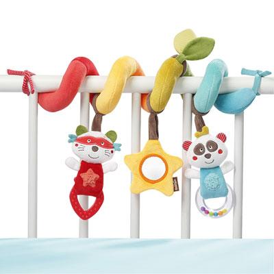 Jouet de lit bébé spiraloo d'activités jungle heros Babysun