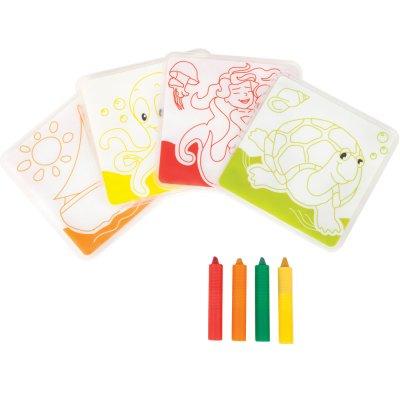 Jouet de bain carnet à colorier et ses crayons Babysun