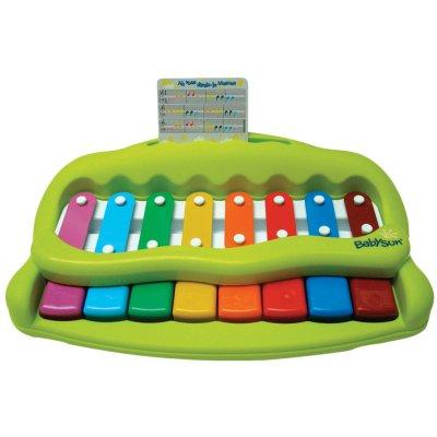 Jouet d'éveil bébé mon premier piano vert Babysun
