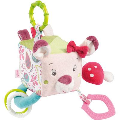 Jouet d'éveil bébé cube d'activités les coquettes Babysun
