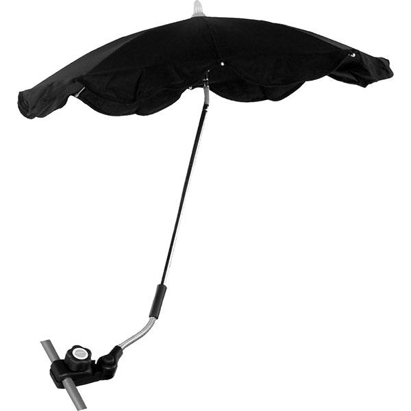 Ombrelle poussette triple flexible avec easy clip noir Babysun