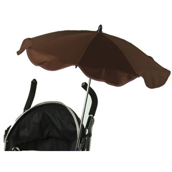 Ombrelle poussette anti uv triple flexible avec easy clip marron Babysun
