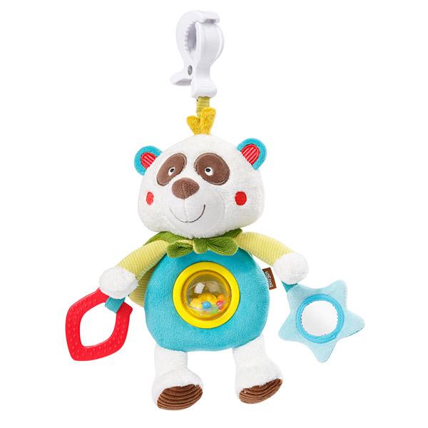 Jouet d'éveil bébé doudou d'activités pince clip panda Babysun