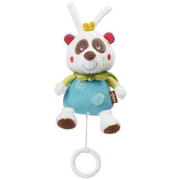 Peluche bébé mini musical panda Babysun
