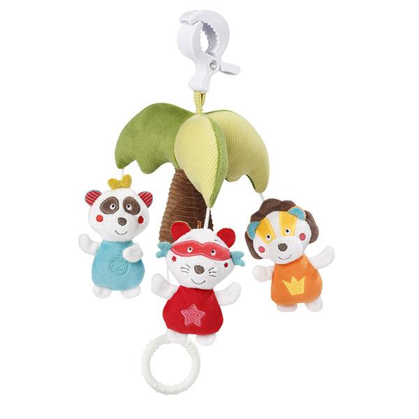 Jouet de voyage bébé mini mobile musical jungle heros Babysun