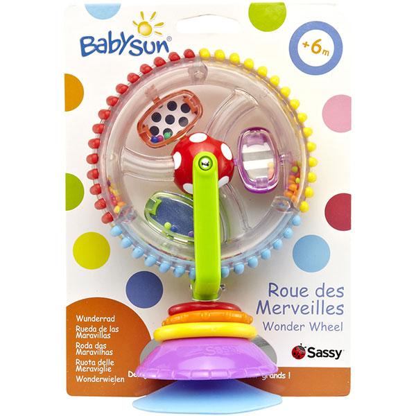 Jouets d'éveil bébé ventouse roues des merveilles Babysun