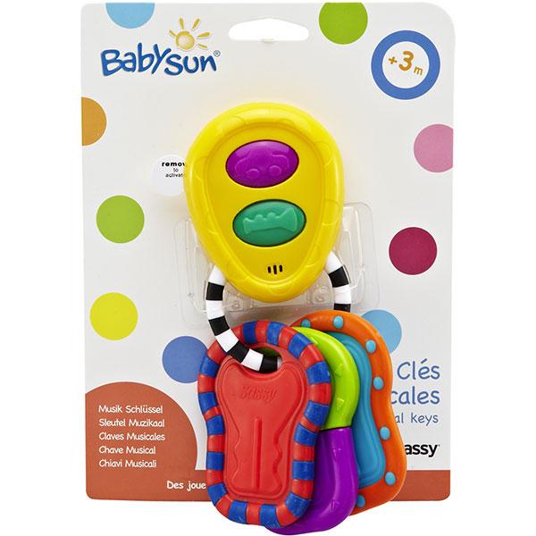 Jouets d'éveil bébé clés musicales Babysun