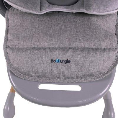 Chaise haute bébé avec fonction balancement gris Bo jungle