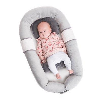 Réducteur de lit bébé gris Bo jungle