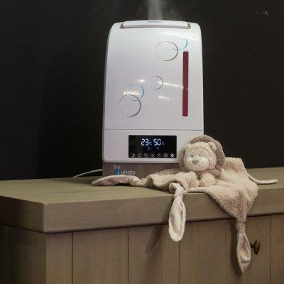 Humidificateur-purificateur digital avec système aromathérapie taupe Bo jungle
