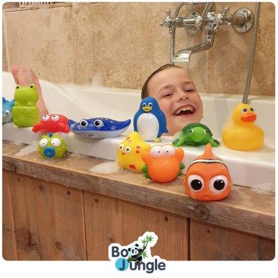Jouet de bain bébé gicleurs 12 pièces Bo jungle