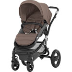 Poussette 4 roues affinity black/fossil brown pas cher