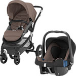 Poussette duo affinity black/fossil brown pas cher