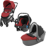Poussette trio affinity black/chili pepper pas cher