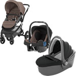 Pack poussette trio affinity black/fossil brown pas cher