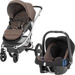 Poussette duo affinity fossil brown pas cher
