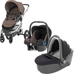 Poussette  trio affinity fossil brown pas cher