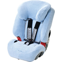 Housse été éponge pour siège auto evolva bleue ciel
