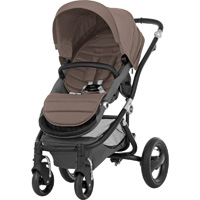 Poussette 4 roues affinity black/fossil brown