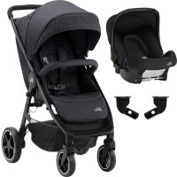 Pack poussette duo b-agile m + baby safe black