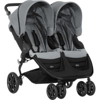 Poussette double b-agile steel grey
