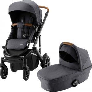 Pack poussette duo smile 3 + nacelle smile midnight grey