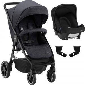 Pack poussette duo b-agile m + baby safe black