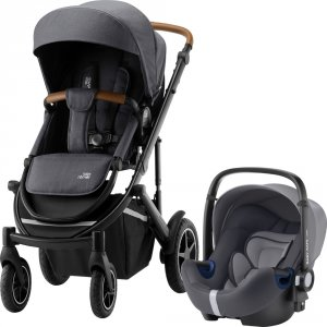 Pack poussette duo smile 3 + baby safe i-size storme grey