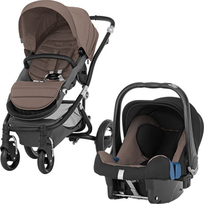 Pack poussette duo affinity black/fossil brown Britax