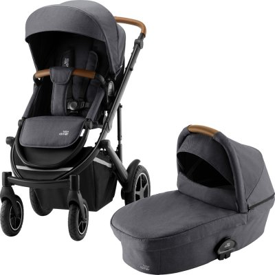 Pack poussette duo smile 3 + nacelle smile midnight grey Britax