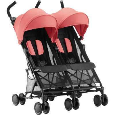 Poussette double holiday coral peach Britax