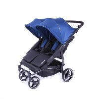 Poussette easy twin 3s châssis black midnight